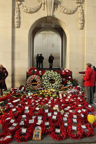 poppy wreaths for Armistice Day