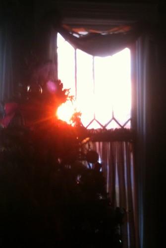 november blue red sunrise tennessee clarksville 2012