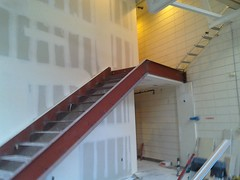 floor, wall, property, house, beam, stairs,