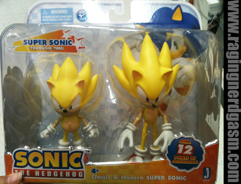 Sonic The Hedgehog 6 and 7 inch figures Classic and Modern Super Sonic  by Jazwares 014