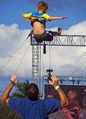 concert baby toss...