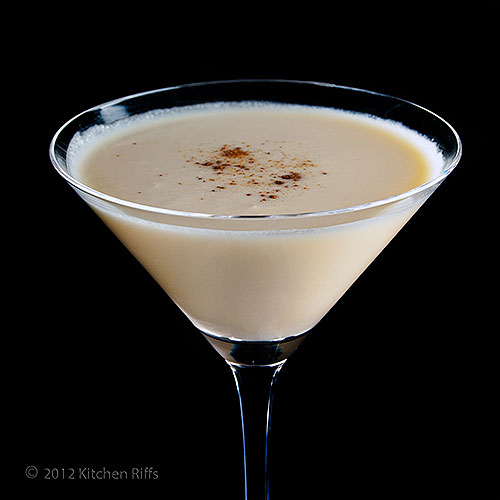 Brandy Alexander Cocktail in Cocktail Glass with Nugmeg Garnish
