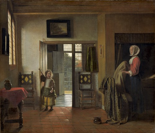 Pieter de Hooch - The Bedroom [1658-60] by Gandalf's Gallery