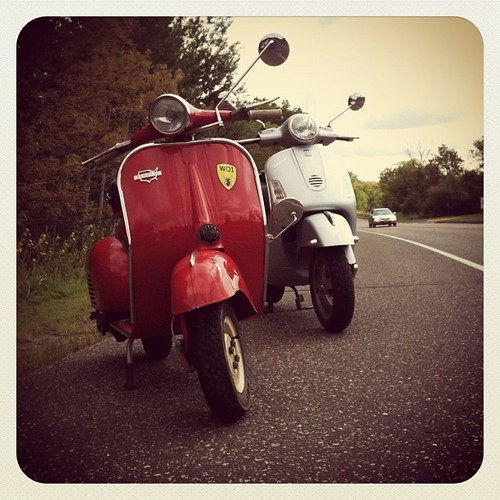 Old and new. #VespaAllstate #VespaGT200L by NathanielS
