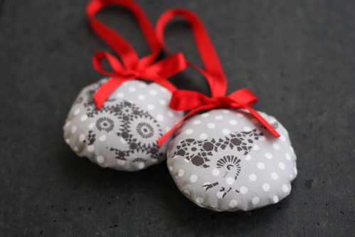 Xmas fabric ornaments
