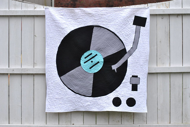 Quilt Pattened Like a Record on a Turntable