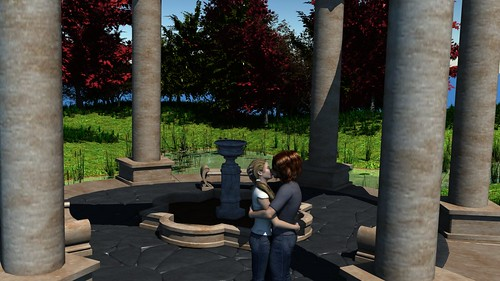 Romantic Pose - Forest Fountain 2