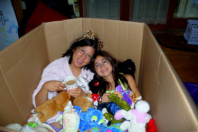 Mom and Dova in the box