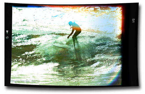 Vintage surfing style - Light leaks & imperfections at