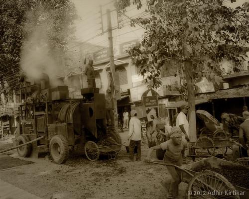 people india sepia blackwhite westbengal krishnagar makingroad