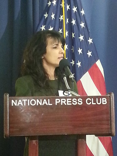 Nitsana Darshan-Leitner speaks at National Press Club panel discussion by Shurat HaDin - Israel Law Center