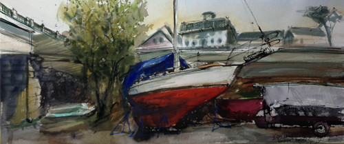 Winter Boat by Camden Sketcher
