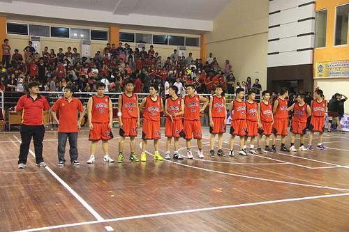 Tim putra di Pajak Cup 2012 di GOR Tribuana - SMA Santa Maria Pekanbaru