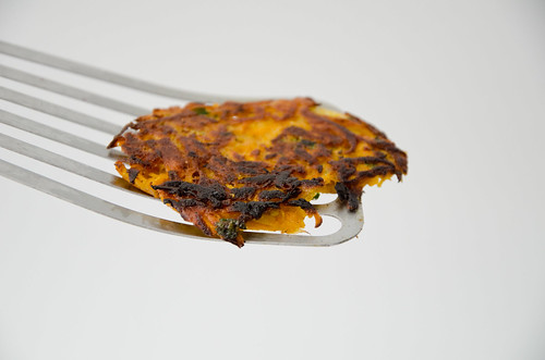 Curried Sweet Potato, Carrot, And Parsnip Latkes With Harissa Yogurt ...