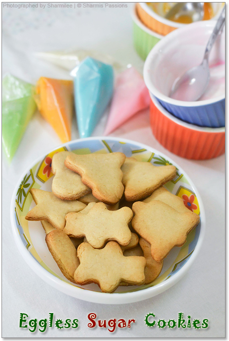 Eggless Sugar Cookies(with royal icing) - Step1