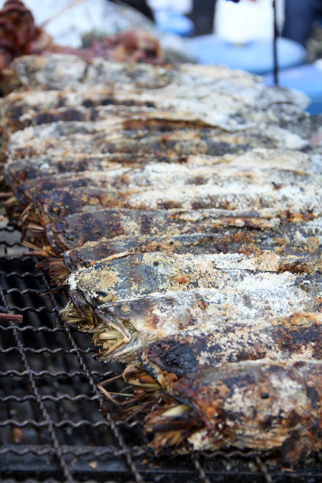 Grilled Snakehead Fish (pla chon pao ปลาช่อนเผา)