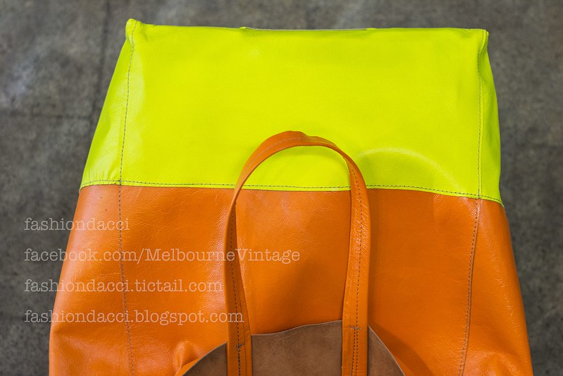orange shop tote neon yellow
