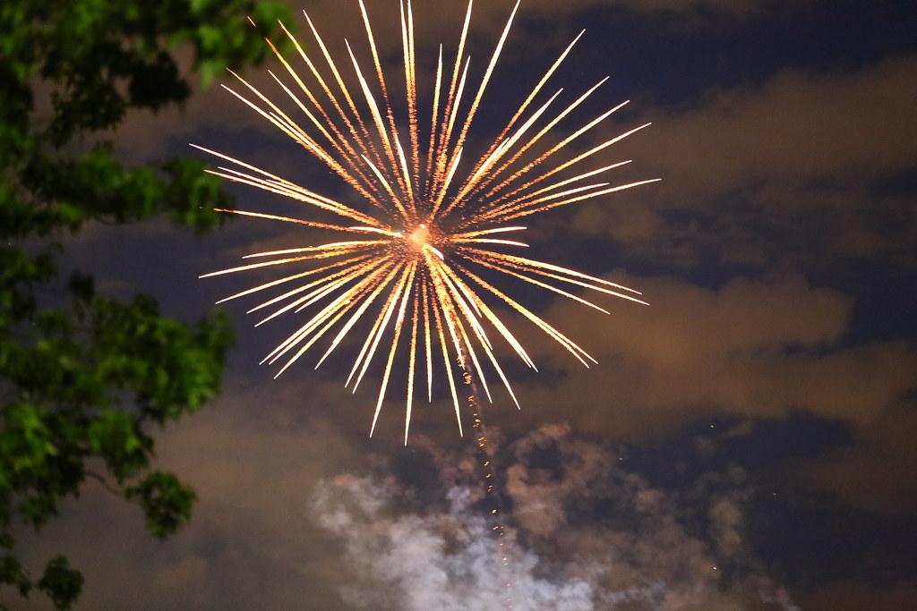 Fireworks - Carols in the Park, North Balwyn Victoria.