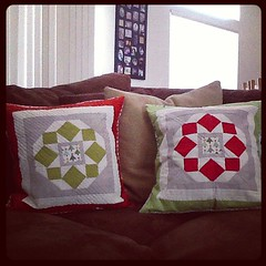 Another finish... Christmas pillow covers.