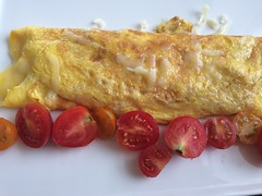 Cheesy omelette goodness