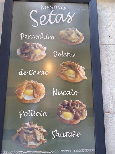 Logroño | La Segunda Taberna | Cartel Setas