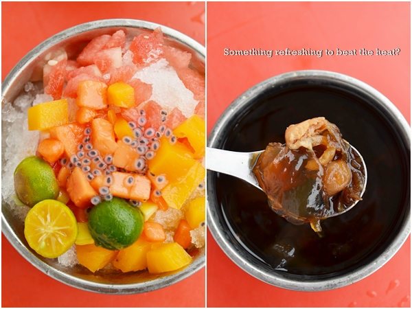 Hawaii Mixed Fruits Ice & Loh Han Guo