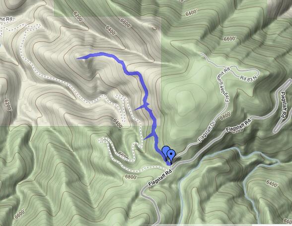 Route - Hiking at Tenderfoot Loop Trail, Boulder, CO