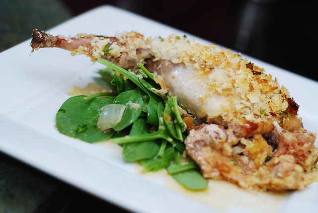 French roast rabbit with Italian sausage