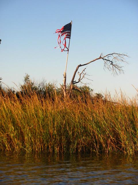 Tattered By Huricane Sandy - Go Vote America !!!