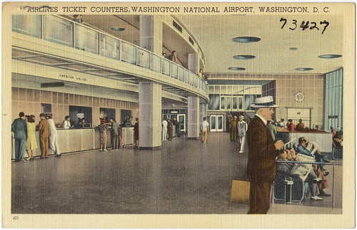 Airline ticket counters, Washington National Airport, Washington, D. C.