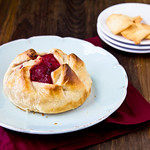 Baked Brie with Cranberry-Apricot Chutney