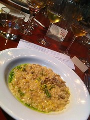 Risotto blue swimmer crab