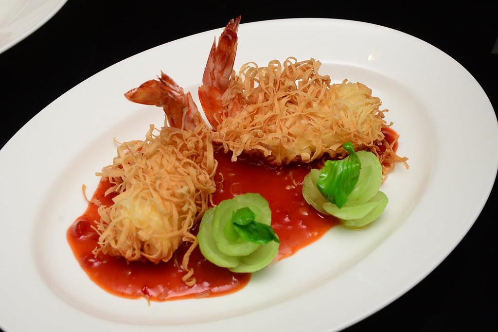 台北君悅正宗寧波料理 - 金絲香炸大對蝦