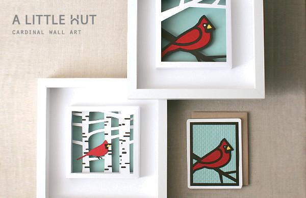 cardinal wall art 1