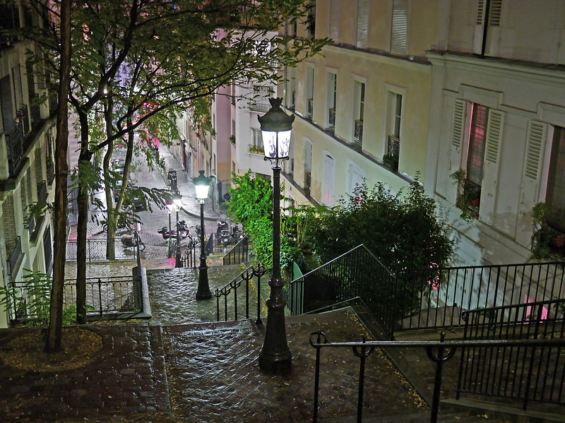 Montmartre Steps After Rain