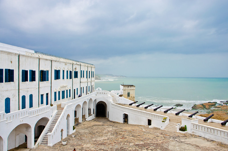 Cape Coast Castle from higher up