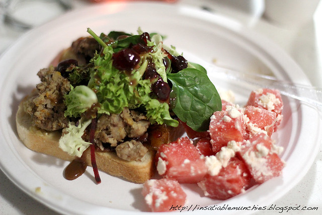 Tukey Sandwich with Feta and Watermelon Salad
