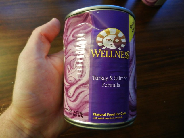 Dented Cat Food Cans