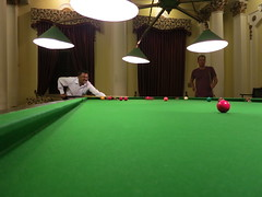 snooker lessons from the Lalitha Mahal Palace bartender