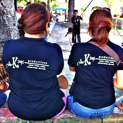 new printed shirts for #ksnaps team for nuestra senora dela soledad de porta vaga fiest celebration coverage :)