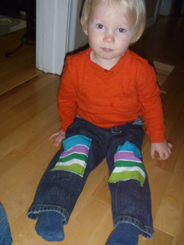Toddler Pants from Adult Jeans Scraps