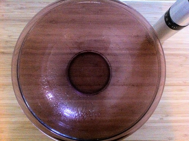 Large Bowl Sprayed with Olive Oil
