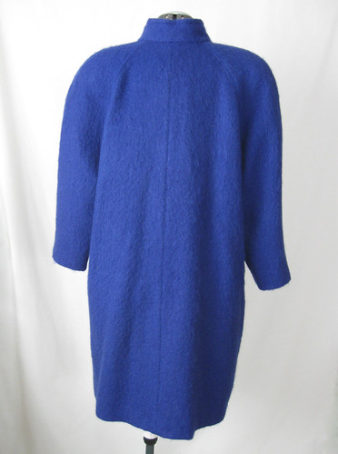 Blue coat back view