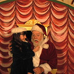 "Arvada Center Miracle on 34th St Pictured Regan Fenske (Susan)_Erick Devine (Kris Kringle) Photo P. Switzer 2012 - PHOTO INFORMATION IS NOTED IN TITLE INCLUDING ACTORS PICTURED AND PHOTOGRAPHER CREDIT - PLEASE INCLUDE IN ALL REPRINTS.   Based on the delightful movie classic that starred Edmund Gwenn as Kris Kringle and a young Natalie Wood, this musical version includes memorable songs such as ""Jolly Old St. Nicholas,"" ""The Holly…"