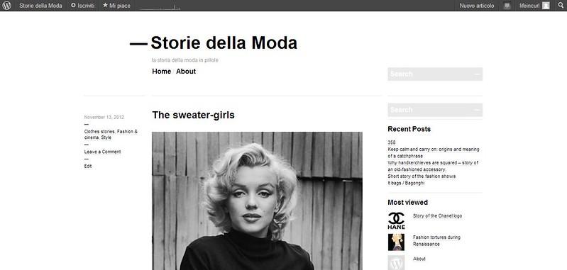 Storie della moda blog
