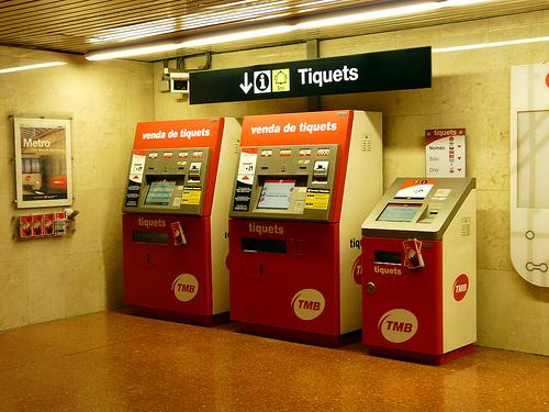 bilet makineleri barcelona