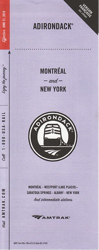 Amtrak Adirondack 2010 Cover