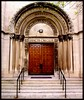 Entrance: Saint Cecilia Roman Catholic Church (Alternative View, Color)--Detroit MI