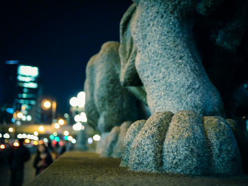 Right hand of the Lion Statue by hyossie