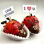 Valentine's Day Strawberry Lovebugs